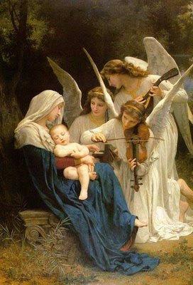Virgen María y los ángeles